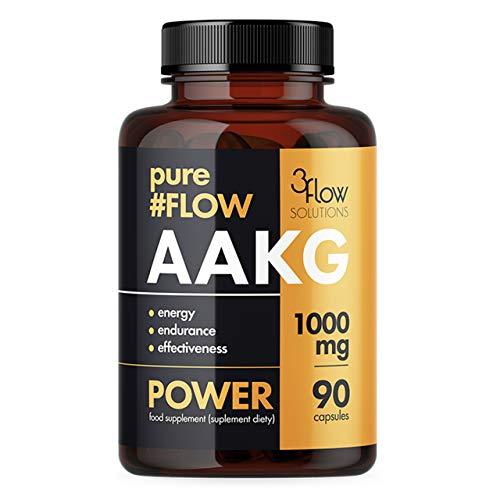 3Flow Solutions AAKG 1000mg 1er pack x 90 Kapseln - PureFlow - L-Arginin-Alpha-Ketoglutarat - Pumpe - Kraft