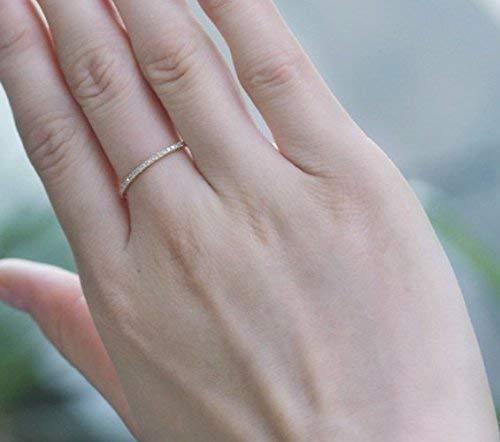 Bride Wedding Band Minimalist Wedding Jewellery Promise Ring Sterling Silver Ring Diamond Wedding Ring Half Circle Eternity Band