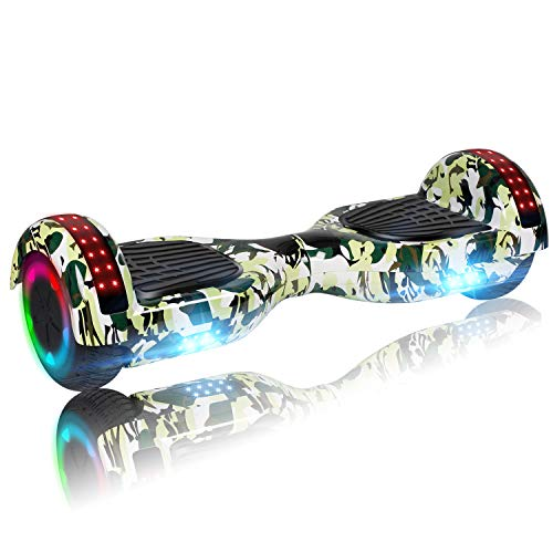 Learn More About UNI-SUN 6.5 Hoverboard for Kids, Self Balancing Hoverboard with Bluetooth and LED ...