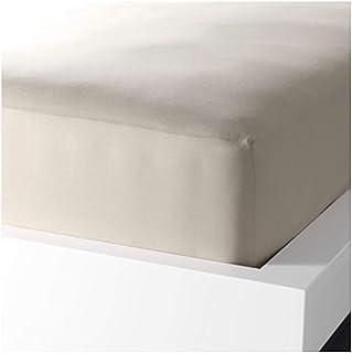 IKEA(イケア) DVALA 90x200 cm 50182502 ボックスシーツ、ベージュ