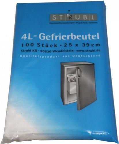 Strubl 4L-Gefrierbeutel 25cm x 39 cm 100 Beutel