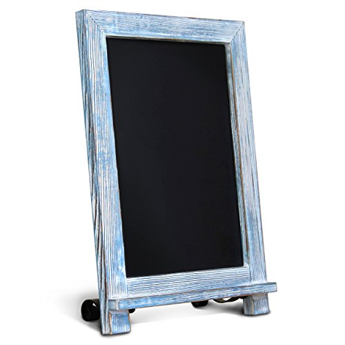"""Extra Large Size 20/"""" x 30/"""" Rustic Torched Wood Magnetic Wall Chalkboard Framed"""