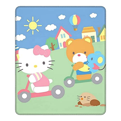 Hello Kitty - Alfombrilla de ratón antideslizante para juegos (25 x 30 cm)