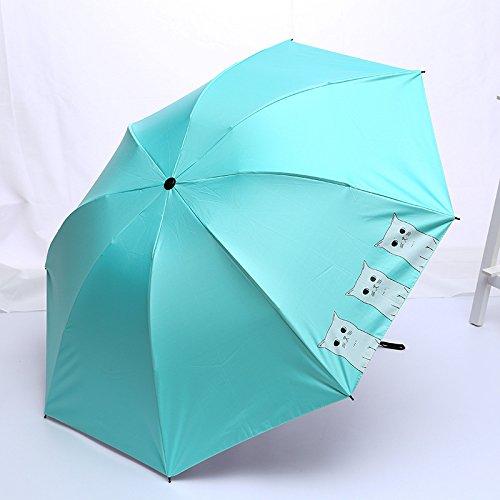 WYJ Regenschirm Cartoon Katze Regenschirm Regen Frauen Mini Taschenschirm Für Frauen Winddicht Niedlichen Tier Regenschirme Weiblich