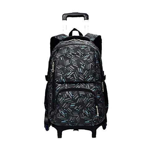 Boy Trolley Bag Canvas Children's School Backpack Girls Backpacks Luggage Book Bags Black Houseware