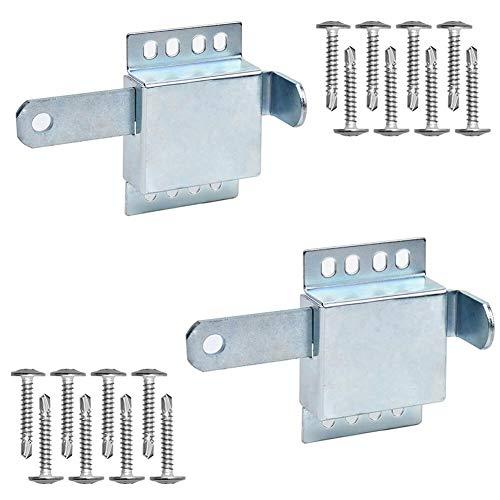 2 Pack Heavy Duty Inside Deadlock - Galvanized Steel Garage Door Side Lock/Housing Extra Security Lock for Most Garage Door