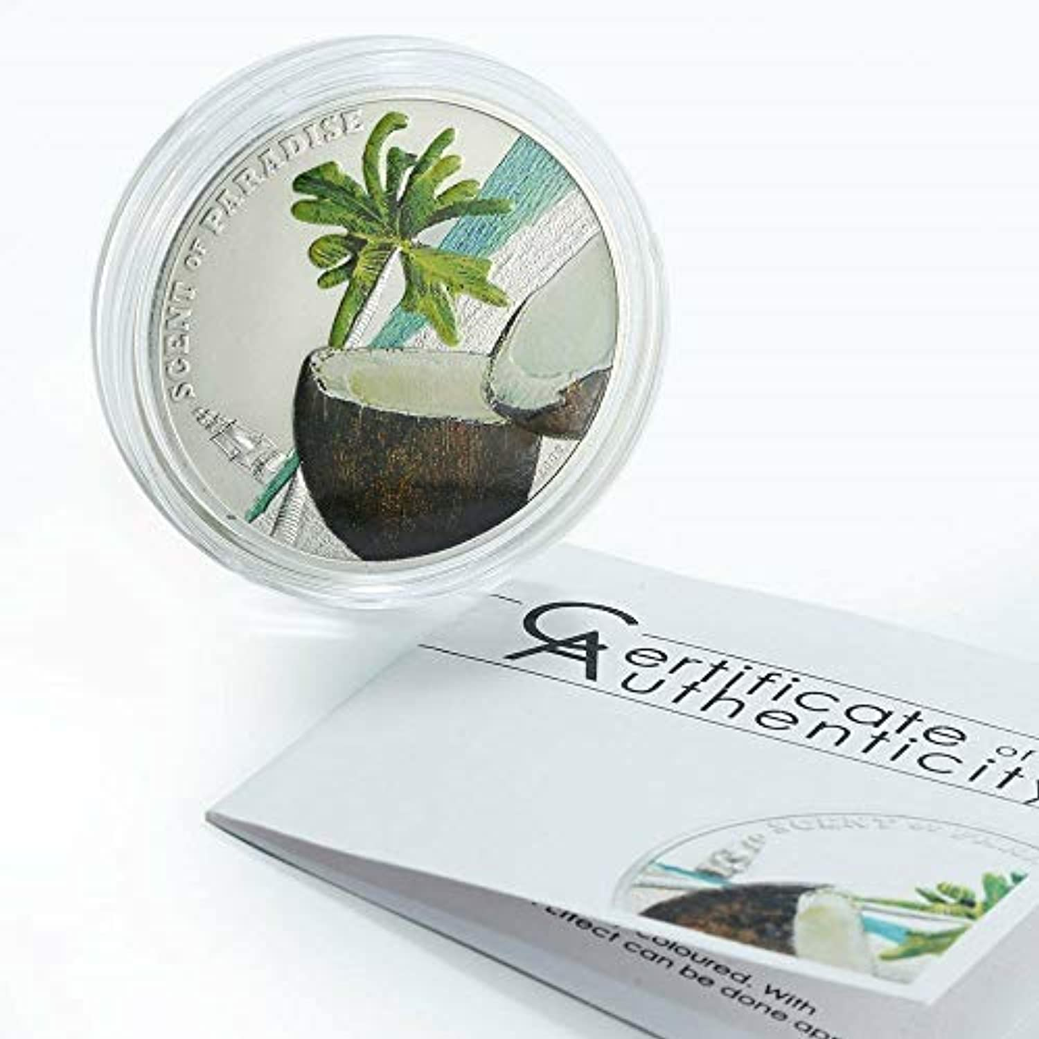 TGBCH Palau Scent Of Coconut 2009  5 Silver Proof Coin