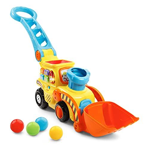VTech Pop-a-Balls Push & Pop Bulldozer,Yellow