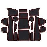 Accessoires de Voiture Tapis de Fente de Porte Tapis de Tasse antidérapants Tapis de rainure de Porte antidérapant Autocollant intérieur pour Subaru Forester 2013-2017 2018