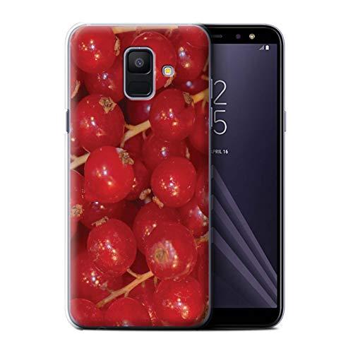 Stuff4®®®®®®®®® Phone Case/Cover/Skin/SGA-CC/Juicy Fruit Collection Samsung Galaxy A6 (2018) Rode bessen