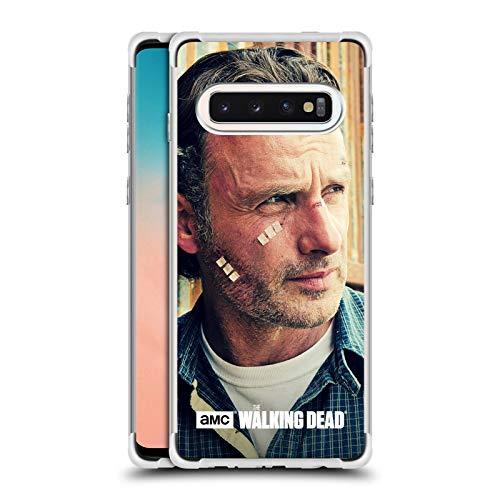 Officiële AMC The Walking Dead Snijwonden En Verbanden Rick Grimes Zilver Shockproof Fender Case Compatibel voor Samsung Galaxy S10