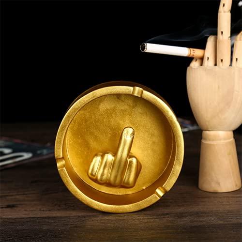 AngYou Spoof Ashtray Accesorios creativos Decoración para el hogar Cigarette Resin Cenicimiento para un Amigo Regalo (Color : Golden)