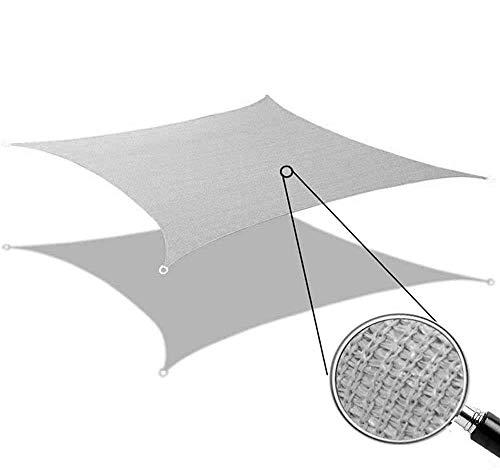 Toldo Vela de Sombra Rectangular Protección Rayos UV Solar Protección HDPE Transpirable Aislamiento de Calor para Dar Sombra a su, Jardín, Color Arena (2x3m, Gris)