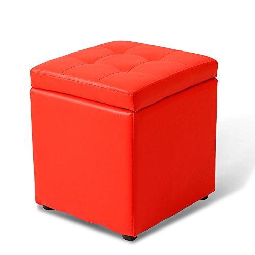 Taburete Cuadrado de Piel de Xiuxiu para Almacenamiento, Moderno, Simple, Creativo, para Sala de Estar, recámara, Zapatos, Taburete de Repuesto