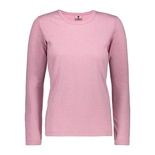 CMP Haut de la Fonction Shirt Fonctionnel Femme Tee-Shirt Rose Respirant - 38