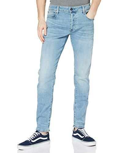 G-STAR RAW Herren Jeans 3301 Slim Fit, Lt Indigo Aged 8968-8436, 38W / 30L
