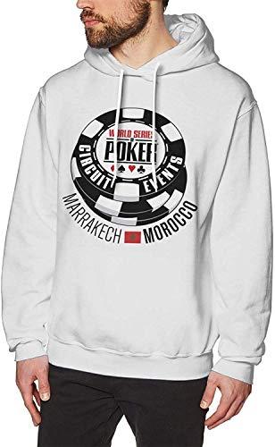 YeeATZ WSOP World Series of Poker 2016 - Felpa con cappuccio, colore: Bianco