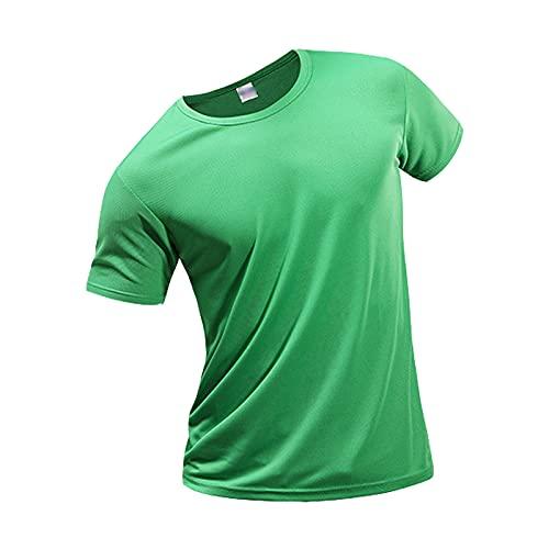 heren sportshirt Gemakkelijk Op Te Bergen Korte Mouwen Comfortabele T-shirts Zachte Hemdjes, met Ademend Vermogen, Compressie Vrijetijdskleding(Size:XXXL,Color:Style1)