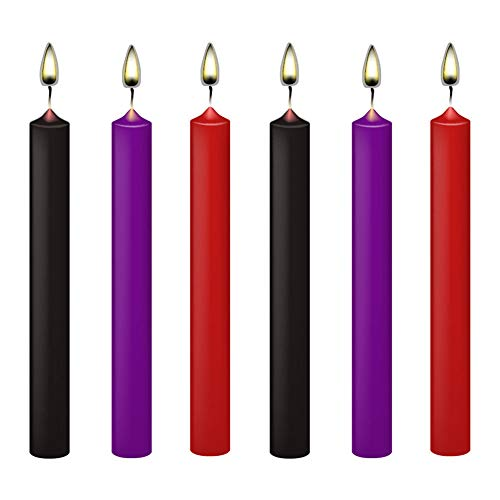 6 Stücke Erwachsene Niedrigtemperatur Kerzen Wachs Tropfkerzen für Paare Liebhaber Flirten, romantische Wachs tropft Kerzen romantische Atmosphäre Maker Sensation Kerzen für Paare