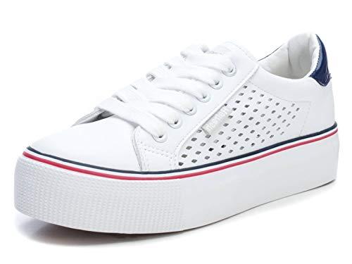 REFRESH Zapatilla Autoclave REF072223 para Mujer Blanco 36