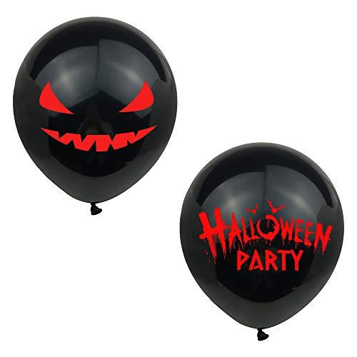 Omenluck 20 unidades de globos de fondo negro con diseño de