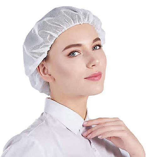 ITODA Arbeitsmütze Mesh Staubmütze Haarnetz 3 Stück Arbeitshut Unisex Kochmütze Herren Damen Arbeitskappe Atmungsaktiv Kopfhaube Waschbar Kochhaube Elastisch Staubhut für Restaurant Bäckerei Arbeit