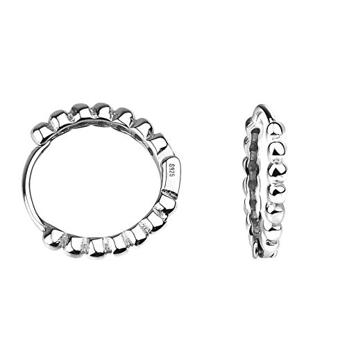 SOFIA MILANI - Damen Ohrringe 925 Silber - Klein Dünn Kugel Creolen - 20717
