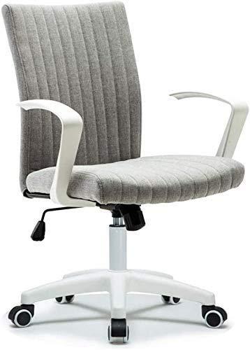 Elegante silla oficina, silla giratoria Sillón de salón de ajuste giratorio | Material de lino transpirable | Silla de trabajo de escritorio de computadora | Rodamiento de carga fuerte | Para recepció