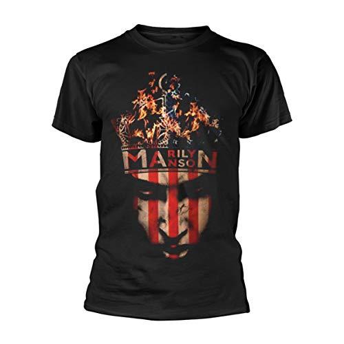 Marilyn Manson Herren, T-Shirt, Crown, Schwarz (Black), L
