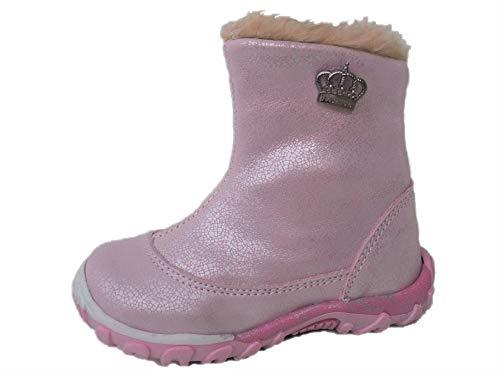 Ennellemoo® meisjes-baby-kinder-laarzen laarzen van echt leer, volledig leer, met warme kunstbont-ritssluiting - Light Shoes.