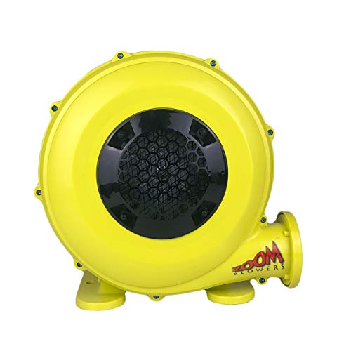 Zoom Blowers 450-Watt, 0.5 HP Compact and Energy Efficient Zoom Commercial Air Blower for Small Inflatables and Bounce Houses