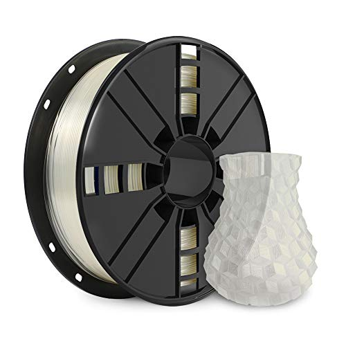 NOVAMAKER 3D Printer Filament - Transparent 1.75mm PLA Filament, PLA 1kg(2.2lbs), Dimensional Accuracy +/- 0.03mm