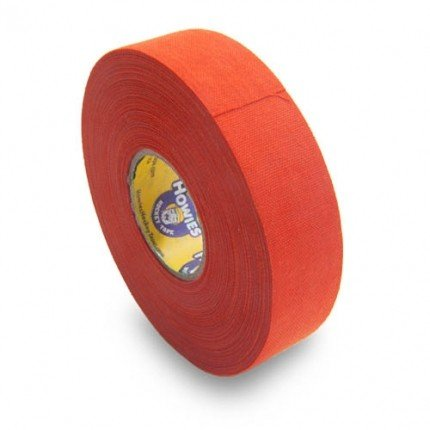 Schlägertape Profi Cloth Hockey Tape 25mm f. Eishockey farbig (orange), 23 m
