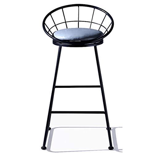 Silla de bar Taburete de hierro forjado, Taburetes de bar minimalistas modernos Taburetes altos Sillas de cocina de desayuno Mostrador Sillas de bar Pata de metal en negro, Muebles de comedor - Capa