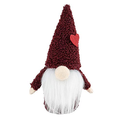 Ideen mit Herz DIY-Wichtel | 18 x 7 x 7 cm | 9-teiliges Set zum selber Basteln | Weihnachtsdeko, Weihnachtswichtel, Deko für Weihnachten (rot)