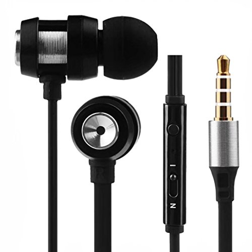 Leoy88 in-Ear Wired Earbuds Stereo Bass Earphones Ultra-Light Sport Workout Microphone Music Stereo Headphones,Compatible for Both iOS & Android Systems for Most Smart Phones (Sliver)