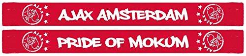 Ajax Bufanda Amsterdam–Orgullo de mokum Red 150x 17cm