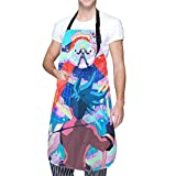 IUBBKI Delantal de cocina Set My Heart On Fire Waterproof Aprons,Adjustable Bib Aprons with Pockets Cooking Kitchen Chef Aprons for Men Women