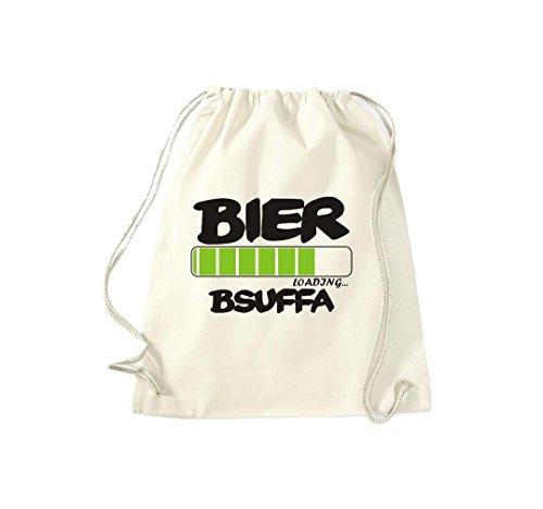 Turnbeutel Wiesn BIER loading...BSUFFA Oktoberfest Gymsack Kultsack natur