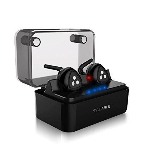 Auricolari Bluetooth Stereo In Ear Senza Fili, Auricolare Bluetooth Mini con Custodia e Base di Ricarica Intelligente Syllable D900 Mini Compatibli con Smartphone e Tablet Android, Iphone e Ipad