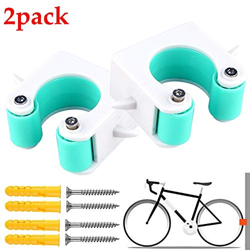 Portable Bike Clip Rack Bike Parking Buckle Indoor Bicycle Display Stands Outdoor Bicycle Storage System with Buckle Mountain Bike Road Bike Tools for Space Saving Mountain Bikes-Blue