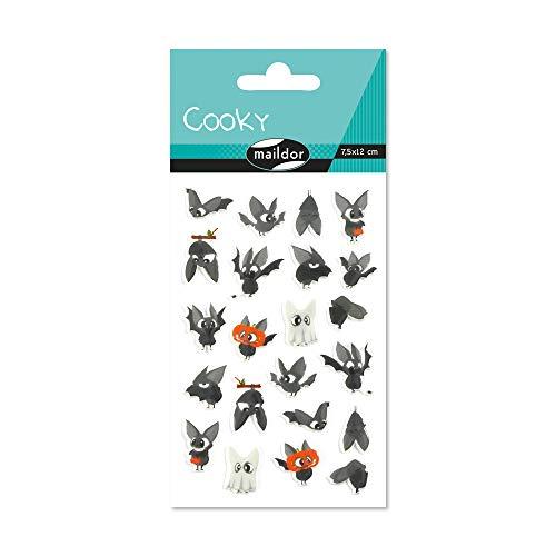 Maildor CY084C Packung mit Stickers Cooky 3D (1 Bogen, 7,5 x 12 cm, ideal zum Dekorieren, Sammeln oder Verschenken, Halloween) 1 Pack