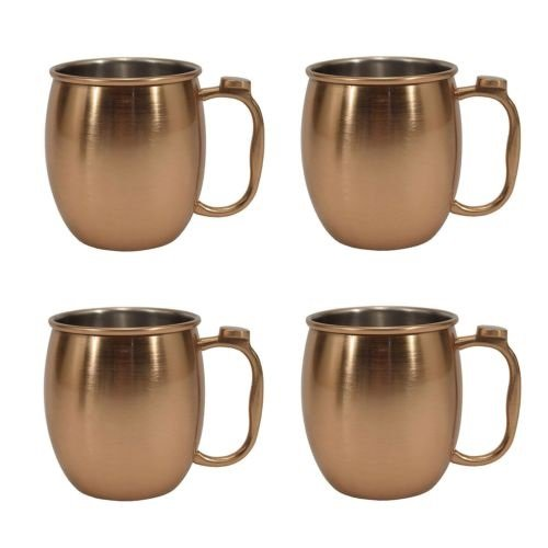20 Over item handling oz. Stainless Steel Moscow Mule of Copper Max 70% OFF Set 4 Mug