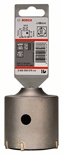 Bosch 2 608 550 076 - Corona perforadora hueca SDS-plus-9 para adaptadores hexagonales (68 x 50 x 80 mm)