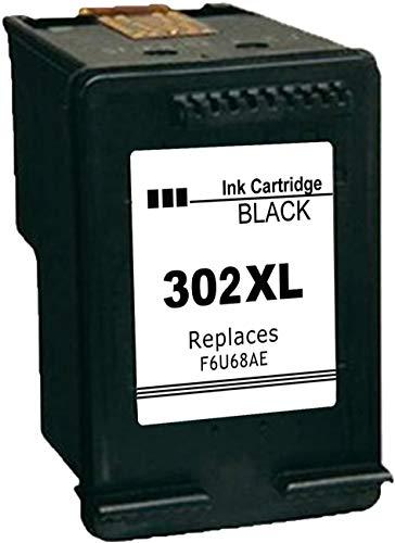 Ksera Ricondizionato per HP 302 302XL Cartuccia d'inchiostro nero, Ad alto rendimento Cartuccia d'inchiostro 1 Nero (F6U68AE) Lavorare con HP Envy 4520 4521 4522 HP OfficeJet 3830 3831 3832 3834 4650