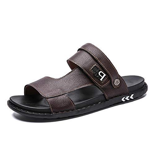 SARUI Zapatos de Playa y Piscina Unisex Adulto Sandalias Unisex, Zapatos para Caminar, Sandalias para niños al Aire Libre, Sandalias de Playa Abiertas para niñas-marrón_43