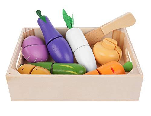 ISO TRADE Küchenspielzeug Obst Gemüse Schneiden Lebensmittel Set Messer Brett 11207