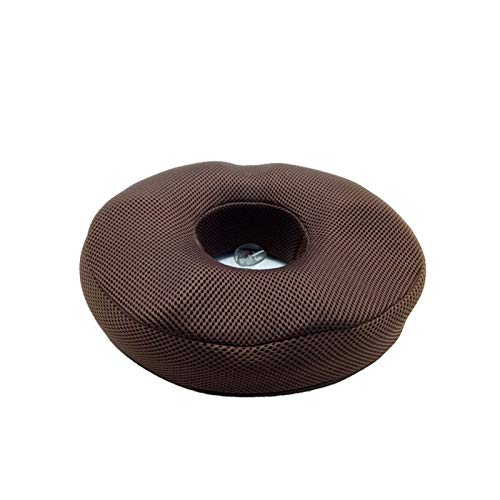 Donut Shape Charcoal Memory Foam Coccyx Fishing Seat Cushion Pain Relief Cushion (Color : Mocha, Specification : 31x27x8cm)