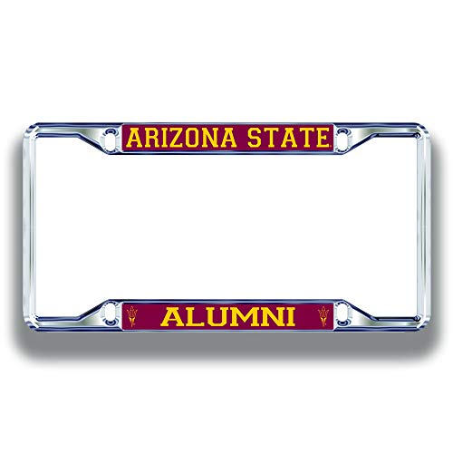 Elite Fan Shop Clemson Tigers License Plate Frame Alumni - Silver