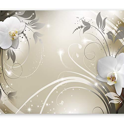 murando Carta da parati 400x280 cm Fotomurali in TNT Murale alla moda Decorazione da Muro XXL Poster Gigante Design Carta per pareti Fiori Orchidea b-A-0060-a-d